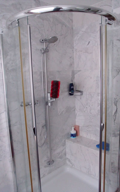 relaxing shower system